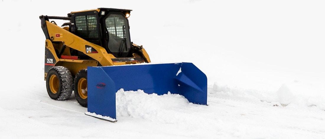 Snow Dozer skid steer attachment