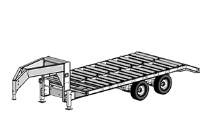 Anderson Industries 20' Gooseneck Split Roller Trailer