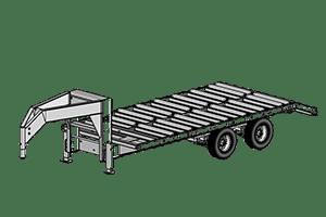 Anderson Industries 20' Gooseneck Split Roller Trailer