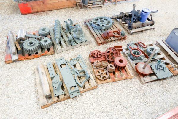 150 Case Parts Pile