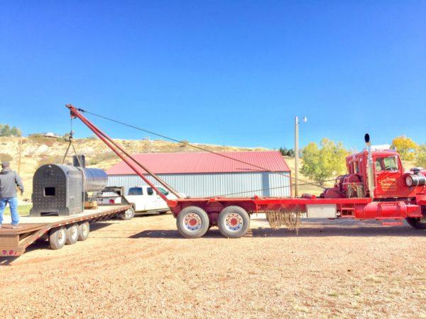 Moving 150 Case Boiler into Shop