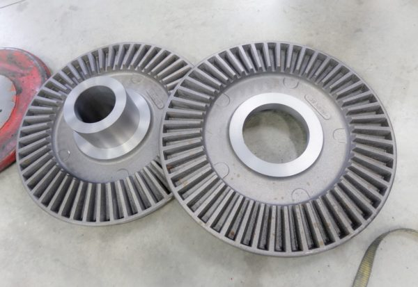 Machined differential bevel gears for 150 Case